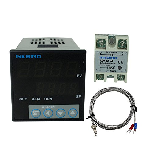 Inkbird °F and °C Display PID Stable Temperature Controller ITC106VH with K Seneor thermocouple and Solid State Relay (ITC-106VH + K + 40A SSR) (Electric Thermo Pot 220v compare prices)