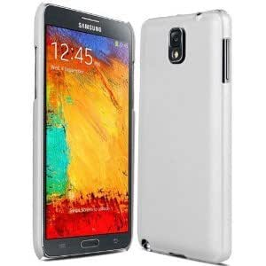 Generic Rubberised Frosted Hard Back Case Cover For Samsung Galaxy Note 3 N9000 - White