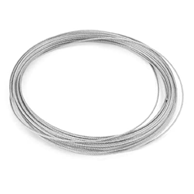 uxcell® Hoisting 7x7 1.2mm Diameter Stainless Steel Flexible Wire Rope 32.8Ft by uxcell