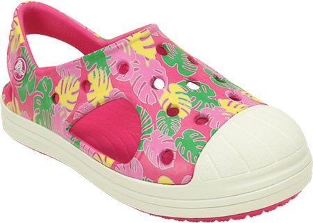 crocs Bump It Tropical Sandal (Toddler/Little Kid), Candy Pink/Oyster, 10 M US Toddler