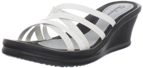 Skechers Women'S Rumblers Tangled Wedge Sandal,White,8 M Us front-1045489