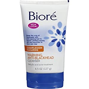 Biore Warm Anti Blackhead Cleanser 135 ml (Pack of 3)