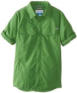 Columbia Sportswear Boy's Silver Ridge Long Sleeve Shirt (Youth), Clean Green, XX-Small