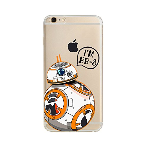 "New iPhone 6 6s Case (4.7""), Darth Vader, Darth Maul, R2D2, Stormtropper, Baymax Mini Soft Plastic TPU Clear Case Cover for iPhone (STAR WARS STYLE #2, iPhone6 6S (4.7))"