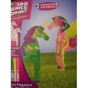 RoseArt 3D Create 'n Color ~ Mini Pegasus & Unicorn