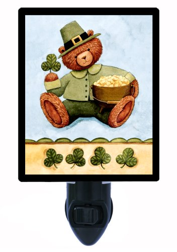 St. Patricks Day Night Light - St. Patricks Bear - Led Night Light
