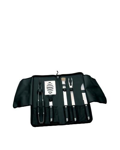 BergHOFF Geminis 6-Piece Travel BBQ Set, Black