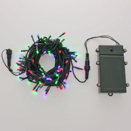 Catena a batteria plb 10 m 100 led multicolor cavo - Luci a batteria per esterni ...