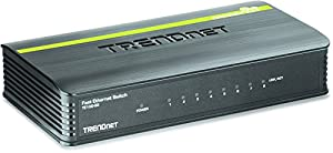 TRENDnet 8-Port Unmanaged 10/100 Mbps GREENnet Ethernet Desktop Plastic Housing Switch,TE100-S8 from TRENDnet