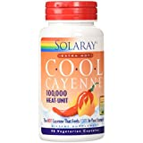 Solaray Extra Hot Cool Cayenne Capsules, 600 mg, 90 Count