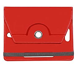 Red Stylabs Tablet Book Flip Case Cover For Lenovo Idea Tab A3000 (Universal)