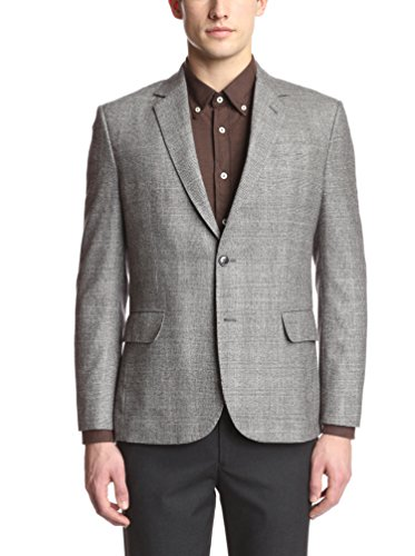 Brooklyn Tailors Men's Full Canvas Brushed Plaid Wool Sportcoat