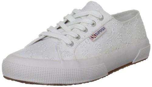 Superga Women's 2750 Sangallow White Lace Up Trainers GS003IL0U 8 UK