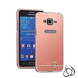 Meephone Luxury metal bumper and Mirror back cover for Samsung Galaxy A8 Rose Gold