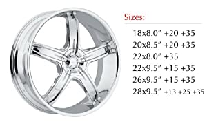 Akuza 844 Lever 28×9.5 Chrome Finish Wheel / 5x127mm 5x135mm / 13mm Offset / 87mm Hub Bore