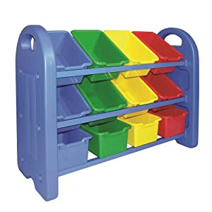 ECR4Kids 3-Tier Toy Storage Organizer with 12 Bins