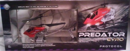 Protocol Predator w Gyro 35 Channel Remote Controll Helicopter Red