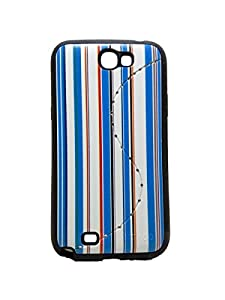 Iway Matte Leather Finish Diamond Soft Back Cover for Samsung Galaxy Note 2 N7100   Blue available at Amazon for Rs.105