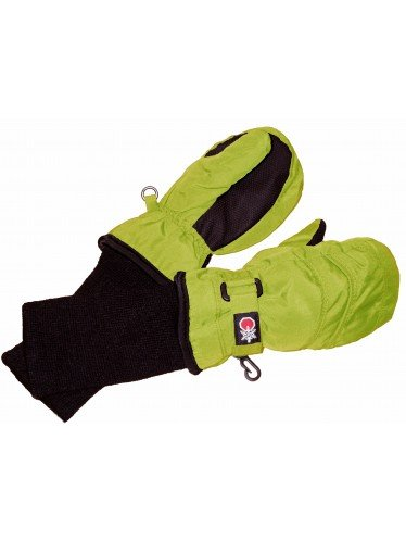 SnowStoppers Kid's Waterproof Stay On Winter Nylon Mittens Small / 1-3 Years Lime Green
