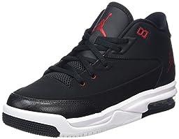 Nike Jordan Kids Jordan Flight Origin 3 Bg Black/Gym Red/White Basketball Shoe 6.5 Kids US