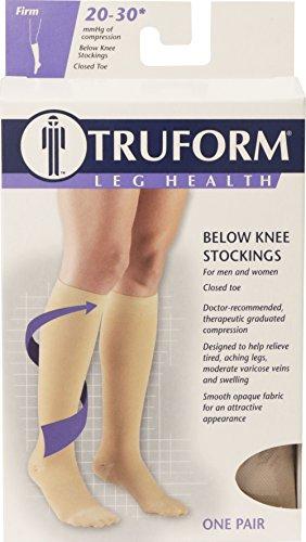 Calcetines de compresión Truform 8865, abajo de la rodilla, 20-30 mmhg, Medium, color Beige