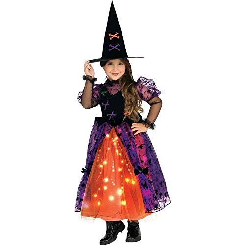 [Rubie s Costume Co 33331 Fiber Optic Pretty Witch Toddler Costume Size Toddler] (Girls Light Up Witch Costume)