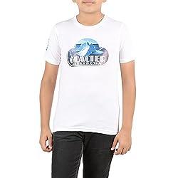 Menthol Boys Half sleeve round neck tshirt (9-10 Years, WHITE)