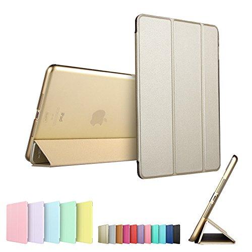 iPad Mini Case, ESR Tri-fold Case iPad Mini Slim Fit PU Leather Case with Smart Cover and Translucent Back for Apple iPad Mini 1 / iPad Mini 2 / iPad Mini 3 (Champagne Gold)