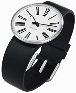 Rosendahl 43432 - Reloj analógico unisex de cuarzo con correa de piel negra