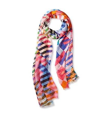 Saachi Women's Digital Zebra Scarf, Multi