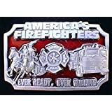 America's Firefighters Colored Belt Buckle