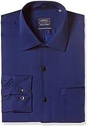 Arrow Men's Formal Shirt (8907378499028_ASSF0011_40_Dark Blue)