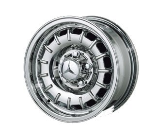 Replica 14″ Old Style Chrome Wheels for Mercedes