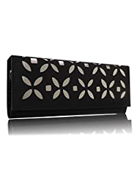 Sn Louis Canvas Black Women Clutch 598