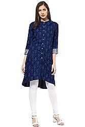 Akkriti by Pantaloons Women's Tunic ( 205000005574628, Blue, Small)