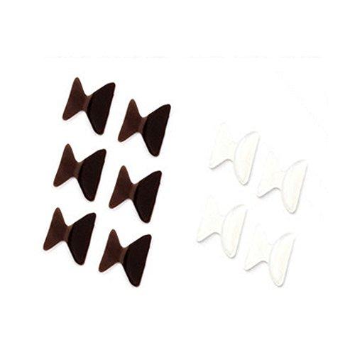 5-paires-25mm-antiderapants-lunettes-silicone-nez-pads-marron-transparent