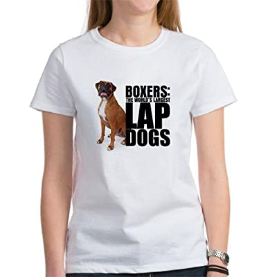 CafePress Funny Unique Design Boxer Lap Dog - Women's T-Shirt Gift Present