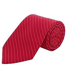 Greyon Red Stripes Formal Regular Tie (GNA040)