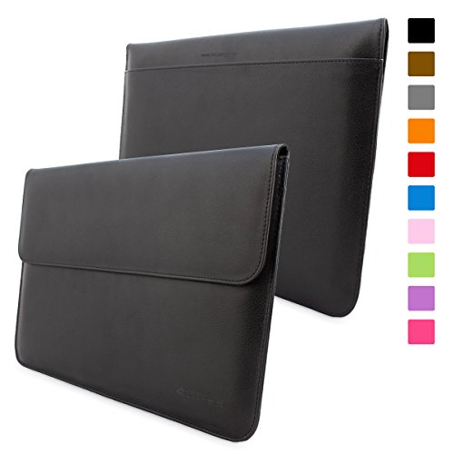 Snugg Macbook Air 11 Case - Leather Sleeve with Lifetime Guarantee (Black) for Apple Macbook Air 11