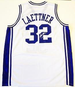 Christian Laettner Autographed Jersey - Duke Blue Devils White - Autographed College... by Sports+Memorabilia