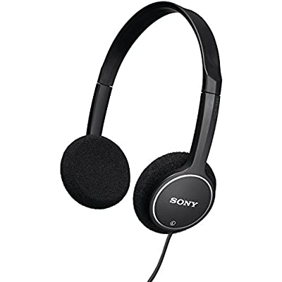 Sony MDR-222KD Children's Headphones w/ Over-The-Head Design (Black) for School, Home & Travel (Certified Refurbished)
