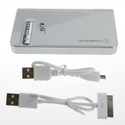 Marzey Xzh Silver 6000Mah Portable Universal Mobile Power Bank Charger For Samsung Yp-G50Cw