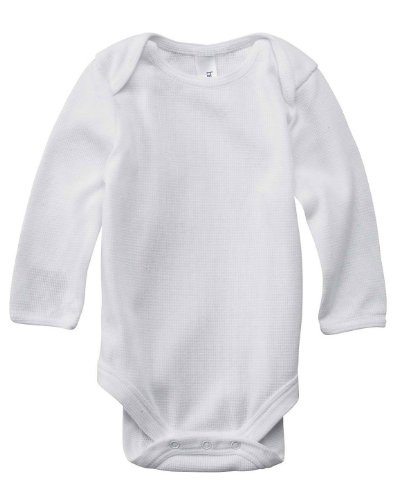 Bella 103 Infant'S L-Sleeve Thermal One-Piece - White/White - 18-24Mos front-1069895