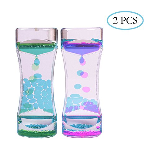 Teenitor 2 PCS Liquid Motion Timer Bubbler, Desk Sensory Toy Timer Floating Marine Life Animals for Play, Fidgeting, Captivating Distraction (Liquid Timers compare prices)
