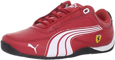 PUMA Drift Cat 4 Leather Ferrari Jr Sneaker (Little Kid/Big Kid),Rosso Corsa/White/Rosso Corsa,2.5 M US Little Kid
