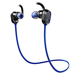 Anker SoundBuds In-Ear Sport Earbuds, Magnetic Wireless Bluetooth Headphones with 8-Hour Playtime and CVC 6.0 Noise Cancellation, IPX4 Sweatproof for Running, Workout, Gym - Sports Earphones with Mic