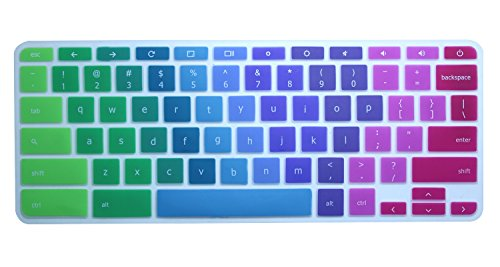 CaseBuy Colorful Silicone Keyboard Protector Cover Skin for Acer Chromebook 15 CB3-531 CB5-571 C910 Chromebook US Version(Ranibow) (Colorful Keyboard Cover compare prices)