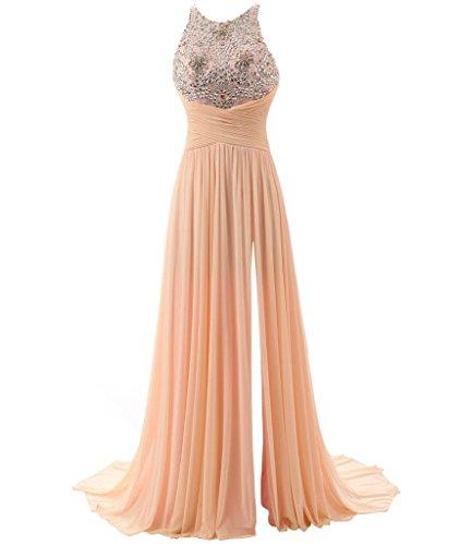 eacabf9a403 KISSBRIDAL Women s Empire Waist Bridesmaid Evening Party Dresses Size 10  Cnampagne