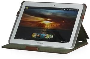 StilGut UltraSlim Case, Tasche mit Stand- und Präsentationsfunktion für Samsung Galaxy Note 10.1, cognac