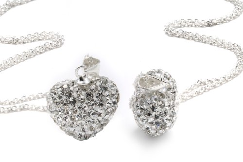 Authentic Diamond Color Heart Shape Pendant Crystals. Now At Our Lowest Price Ever but Only for a Limited Time! (Chain Not Included)